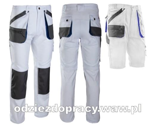 BRIXTON PRACTICAL mocne spodnie robocze 2w1 z odpinanymi nogawkami białe