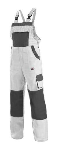 LUXY ROBIN CXS bawełniane spodnie ogrodniczki białe