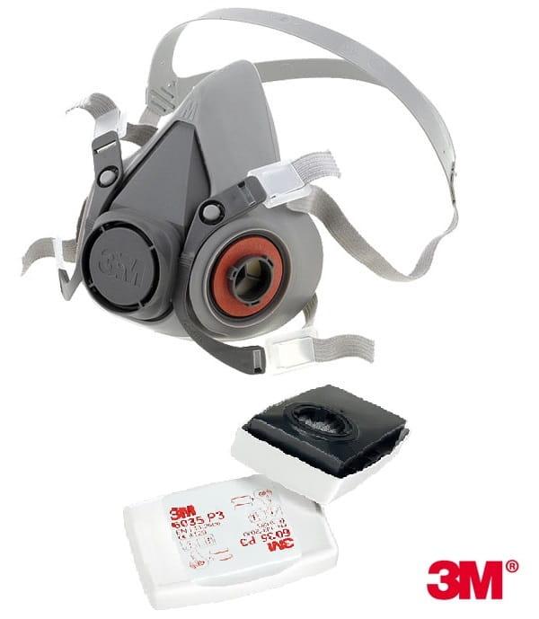 ccc67ac4490299 Maska 3M 6000, półmaska przeciwpyłowa z filtrami P3 - ATBS Odzież do ...
