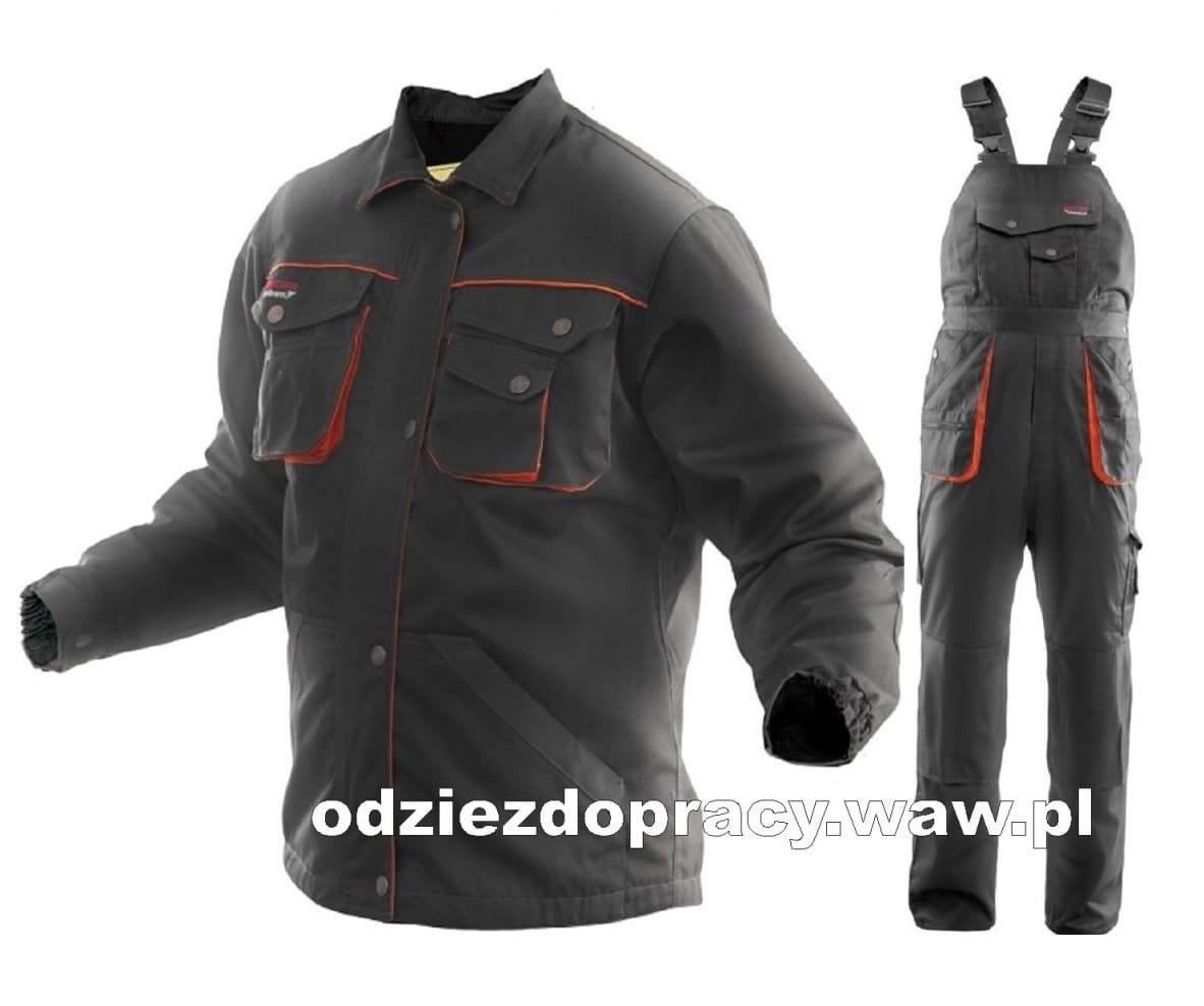 BRIXTON PRACTICAL komplet roboczy bluza i ogrodniczki z mocnej tkaniny , duże rozmiary 3XL, 4XL